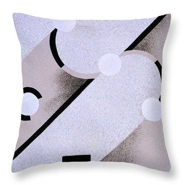 Abstract Design From Nouvelles Compositions Decoratives Throw Pillow by Serge Gladky