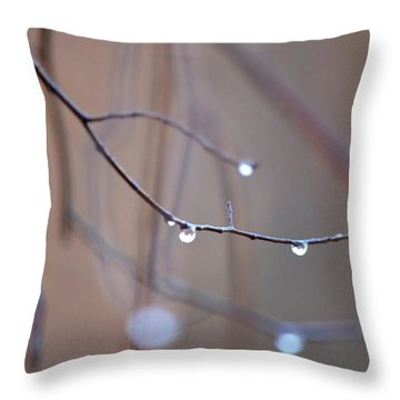 Abstract Dew Drops 2013 Throw Pillow by Maria Urso