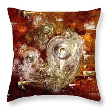 Abstract Discs Throw Pillow