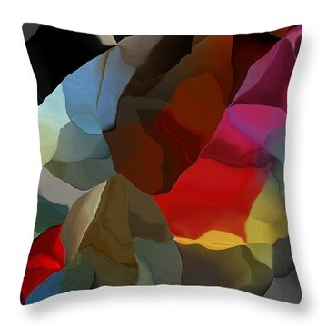 Throw Pillow featuring the digital art Abstract Distraction by David Lane