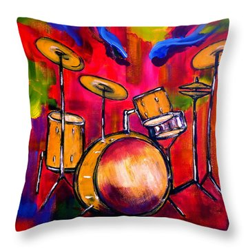Abstract Drums II Throw Pillow by Pete Maier