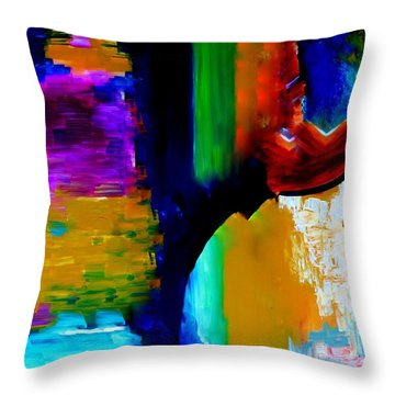 Abstract Du Colour Throw Pillow by Lisa Kaiser