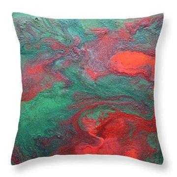 Abstract Evergreen Throw Pillow