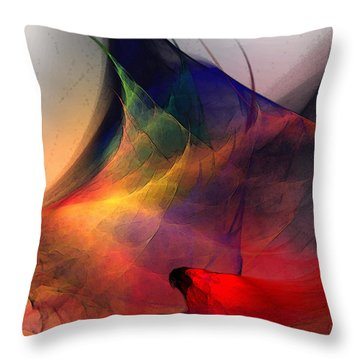 Abstract Exotic Birds Throw Pillow