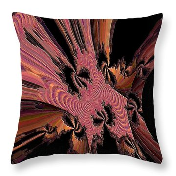 Abstract Explosion Throw Pillow by Jeff Swan