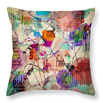 Throw Pillow featuring the digital art Abstract Expressionism by Phil Perkins