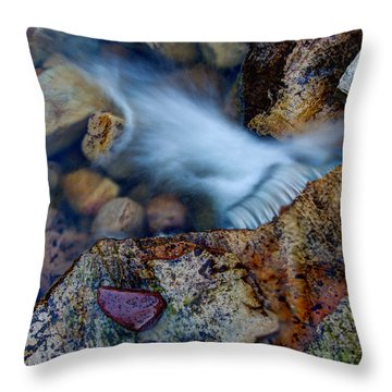 Abstract Falls Throw Pillow
