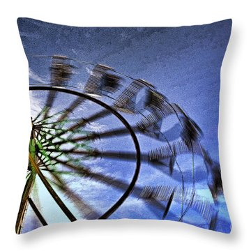 Throw Pillow featuring the photograph Abstract Ferris Wheel by Linda Blair