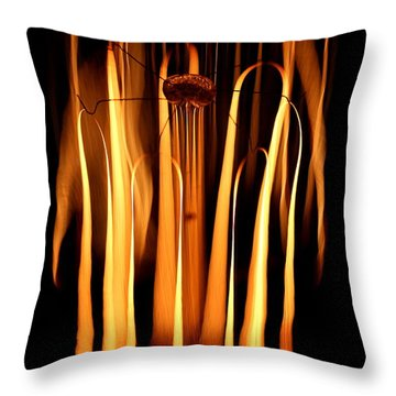 Throw Pillow featuring the photograph Abstract Filament by Kenny Glotfelty