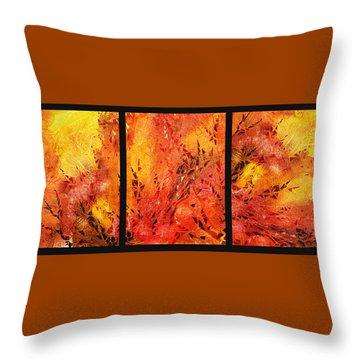 Abstract Fireplace Throw Pillow by Irina Sztukowski