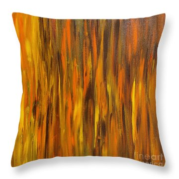 Abstract Fireside Throw Pillow by Susan  Dimitrakopoulos
