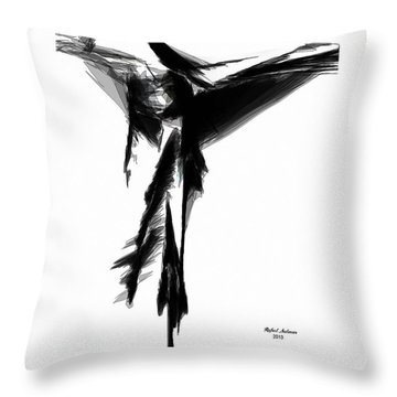 Abstract Flamenco Throw Pillow