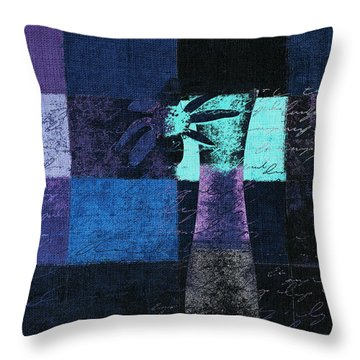 Abstract Floral - H15bt3 Throw Pillow by Variance Collections