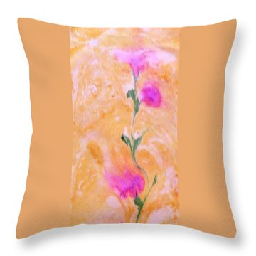 Abstract Floral Throw Pillow by Mike Breau