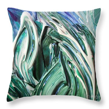 Abstract Floral Sky Through The Leaves Throw Pillow