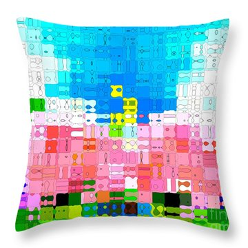 Throw Pillow featuring the photograph Abstract Flower Garden by Anita Lewis