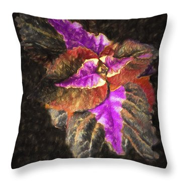 Abstract Flowers  ... Throw Pillow by Chuck Caramella