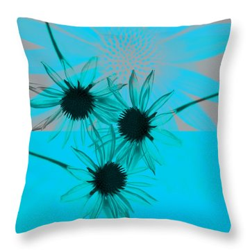 abstract - flowers - Flower Collage  Throw Pillow by Ann Powell