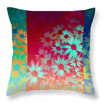 abstract  - flowers- Summer Joy Throw Pillow by Ann Powell