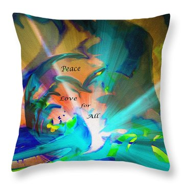 Throw Pillow featuring the painting Abstract For Peace by Sherri  Of Palm Springs