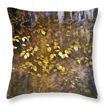 Abstract Forest Throw Pillow by Yuri Santin