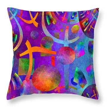 Abstract Fractillious - Episode One  Southwestern Throw Pillow by Glenn McCarthy Art and Photography