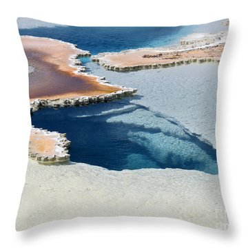 Abstract From The Land Of Geysers. Yellowstone Throw Pillow