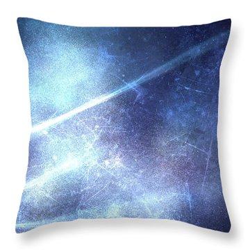 Abstract Frozen Glass Throw Pillow