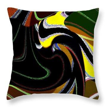 Abstract Fusion 183 Throw Pillow