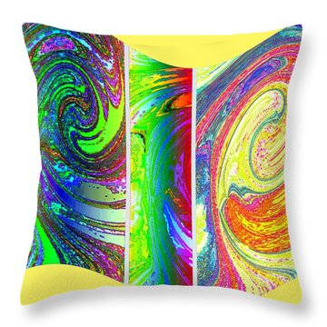 Abstract Fusion 188 Throw Pillow by Will Borden