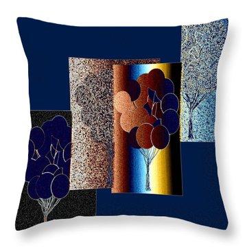 Abstract Fusion 191 Throw Pillow
