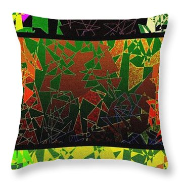 Abstract Fusion 193 Throw Pillow by Will Borden