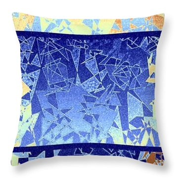 Abstract Fusion 194 Throw Pillow by Will Borden