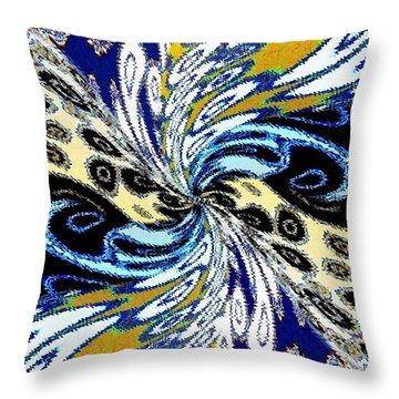 Abstract Fusion 198 Throw Pillow