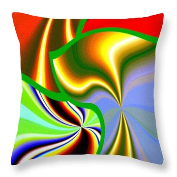Abstract Fusion 200 Throw Pillow by Will Borden