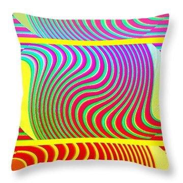 Abstract Fusion 205 Throw Pillow