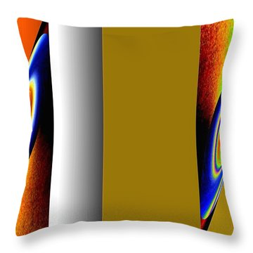 Throw Pillow featuring the digital art Abstract Fusion 211 by Will Borden