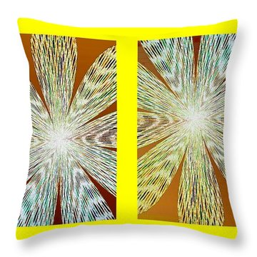 Abstract Fusion 216 Throw Pillow