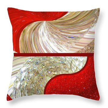 Abstract Fusion 218 Throw Pillow
