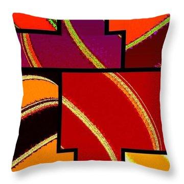 Abstract Fusion 232 Throw Pillow