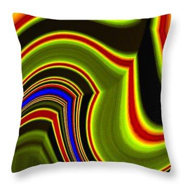 Abstract Fusion 234 Throw Pillow
