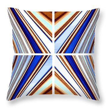 Throw Pillow featuring the digital art Abstract Fusion 236 by Will Borden