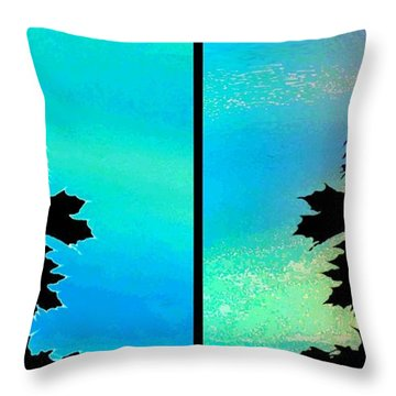 Abstract Fusion 243 Throw Pillow