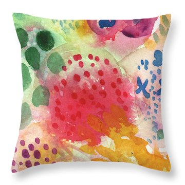 Abstract Garden #43 Throw Pillow
