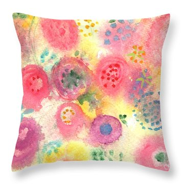 Abstract Garden #45 Throw Pillow