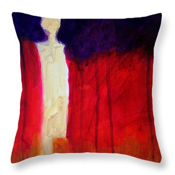 Abstract Ghost Figure No. 1 Throw Pillow