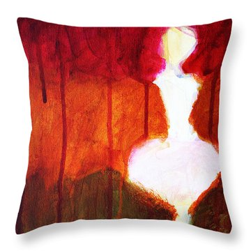 Abstract Ghost Figure No. 2 Throw Pillow