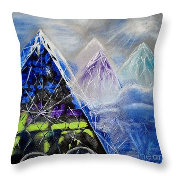 Abstract Glass Mountain Throw Pillow