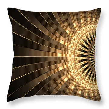 Abstract Artwork Gold 1 Throw Pillow