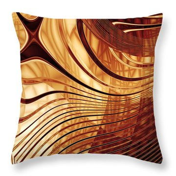 Abstract Artwork Gold 2 Throw Pillow
